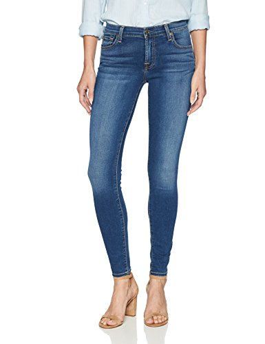 7 For All Mankind Women's The Gwenevere Skinny Jean, Medium Blue Waters, 29