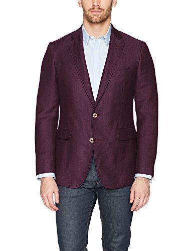 Robert Graham Men's Road Tailored Fit Sportcoat, Raspberry, 38