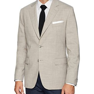 J.Lindeberg Men's Tech Wool Blazer, Oxford Tan, 46