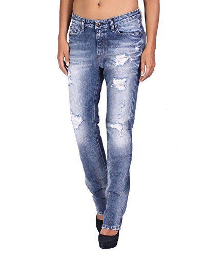 Diesel Women's Jeans Rizzo - Regular Slim Straight - Blue, W25/L32