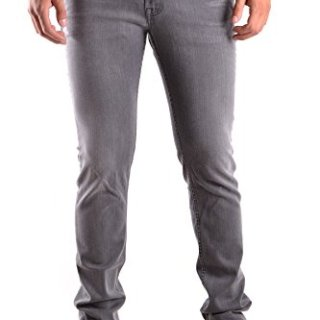 Stone Island Men's Grey Cotton Jeans