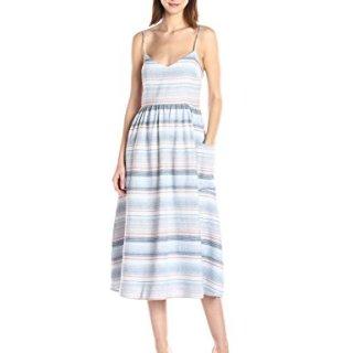Mara Hoffman Women's Spaghetti Midi Dress, Blue/Multi, 4