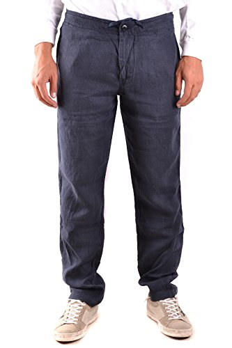 Stone Island Men's Blue Linen Pants
