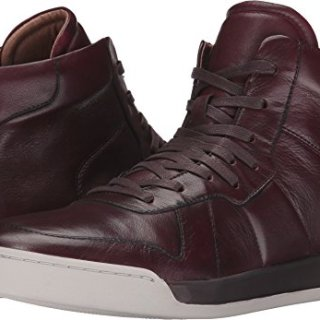 John Varvatos Men's Remy Hi Top Wine 7 D US