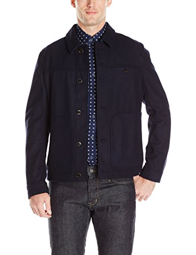 Ted Baker Men's Huey Coat, Navy, 4/Large