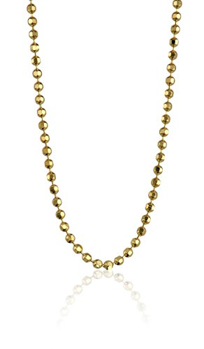 Alex Woo Chain 14k Yellow Gold Diamond-Cut Ball Chain, 20""