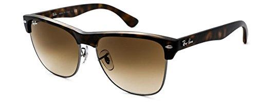 Ray-Ban Unisex Clubmaster Oversized Sunglasses (Matte Havana Frame w/Brown Lens, 57)