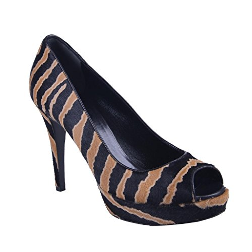 Gucci Women's Animal Print Pony Hair Platform High Heal Pump Shoes US 8.5 IT 38.5