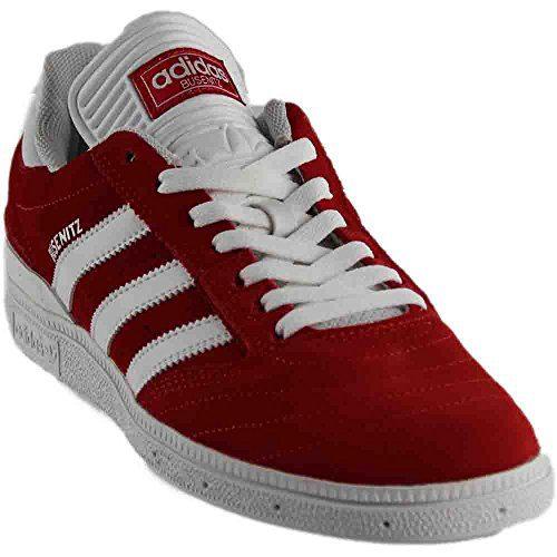adidas Busenitz Mens Fashion-Sneakers - Scarlet/Footwear White/Footwear White