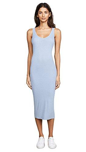 Enza Costa Women's Rib Tank Dress, Powder Blue, X-Small