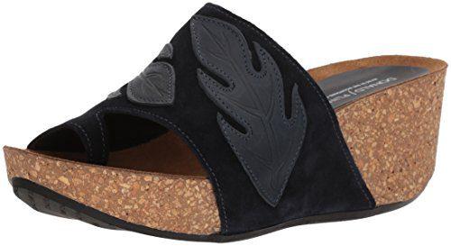 Donald J Pliner Women's Gale Slide Sandal, Navy, 8.5 Medium US