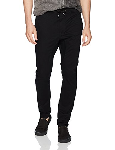 Zanerobe Men's Salerno Chino Drawstring Pants, Black, 34