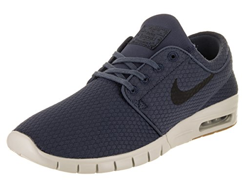 NIKE Stefan Janoski Max Mens Fashion-Sneakers 11.5 - Thunder Blue/Black-Gum MED Brown