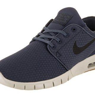 NIKE Stefan Janoski Max Mens Fashion-Sneakers 11.5 - Thunder Blue/Black-Gum MED Brown