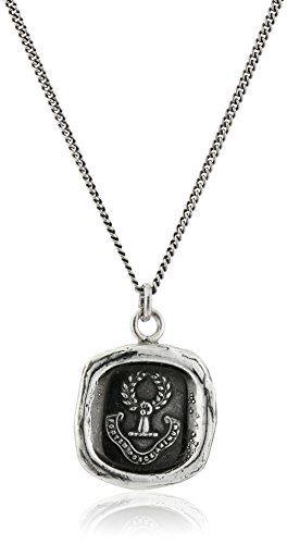 "Pyrrha Unisex Inner Strength Sterling Silver Talisman Pendant Necklace, 18"""
