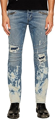 Just Cavalli Men's Moto Jeans in Blue Blue Jeans