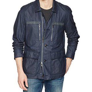 John Varvatos Star USA Men's Field Jacket, Blue Heather, Large