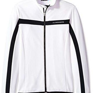 J.Lindeberg Men's Brushed Fieldsensor Jacket, White, S