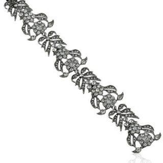 Kenneth Jay Lane Bride Clear Crystal Floral Bracelet