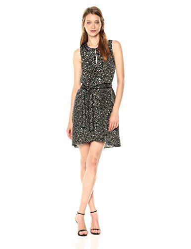 A|X Armani Exchange Women's Leopard Printed Tank Dress, Green Copenaghen PRI, 12