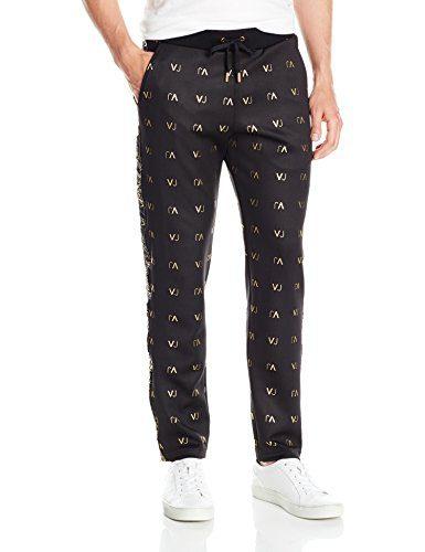 Versace Jeans Men's Felpa Vj Logo Pant, Nero, Large