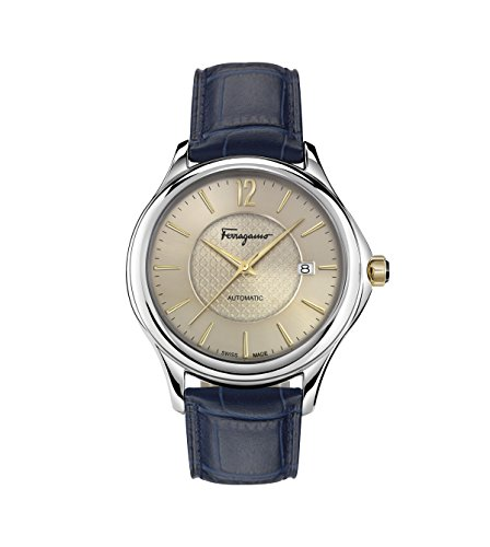 Salvatore Ferragamo Men's 'Time Automatic' Swiss Made Automatic Stainless Steel and Leather Watch