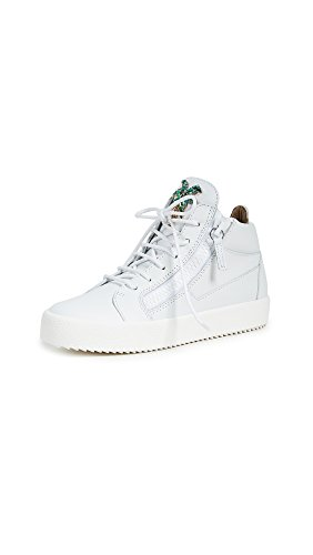 Giuseppe Zanotti Women's Zip Side Mid Top Sneakers, White Multi, 38 IT
