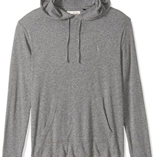 Original Penguin Men's Pullover Tri-Blend Hoodie, Athletic Grey Heather, Large
