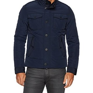 J.Lindeberg Men's Bailey Structured Jacket, JL Navy, Large