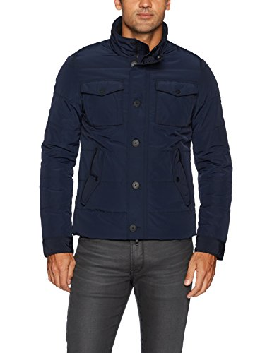 J.Lindeberg Men's Bailey Structured Jacket, JL Navy, Large