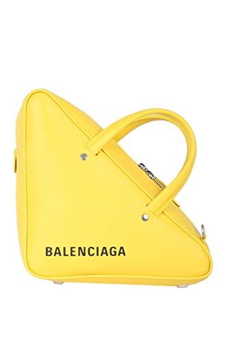 Balenciaga Women's Yellow Leather Handbag