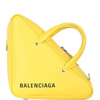 Balenciaga Women's Yellow Leather Handbag
