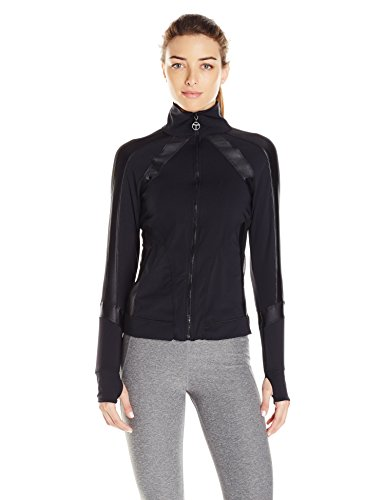 Trina Turk Recreation Women's Shine on Solid Jacket, Black, Large