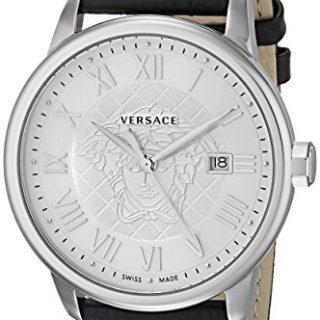 Versace Men's Business Analog Display Quartz Black Watch