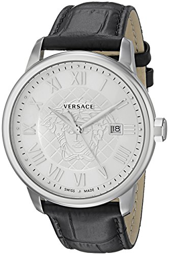 Versace Men's Business Analog Display Quartz Black Watch