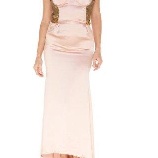 Roberto Cavalli Pink Silk Long Dress, 40, Pink