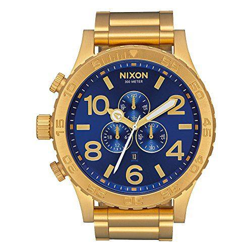 Nixon Unisex 51-30 Chrono All Gold/Blue Sunray One Size