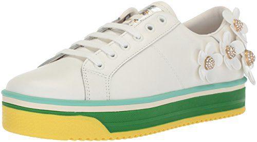 Marc Jacobs Women's Daisy Multi Color Sole Sneaker, White, 41 M EU (11 US)