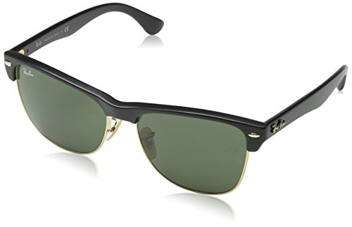 Ray-Ban Clubmaster Oversized Sunglasse,Black, 57mm