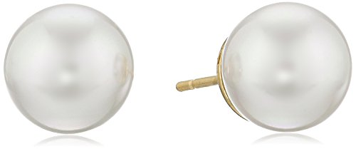 Majorica 10mm White Simulated-Pearl Stud Earrings