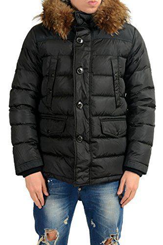 Moncler Men's CHARENTE Real Fur Down Full Zip Parka Jacket Sz 3 US M