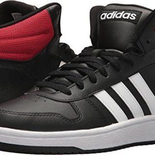 adidas Men's VS Hoops Mid 2.0, Core Black/White/Scarlet, 11.5 M US