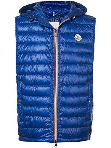 Moncler Men's Blue Polyamide Down Jacket