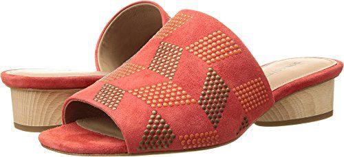 Donald J Pliner Women's Riminisp Slide Sandal, Poppy, 7.5 Medium US