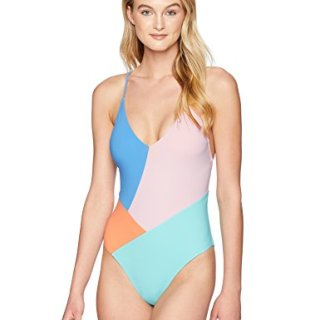 Nanette Lepore Women's Color Block Strappy Back One Piece Swimsuit, Multi, Medium
