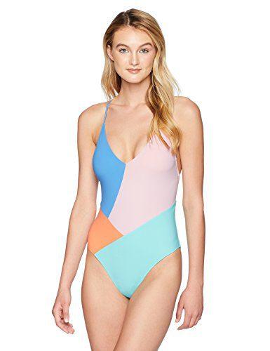 Nanette Lepore Women's Color Block Strappy Back One Piece Swimsuit, Multi, Medium