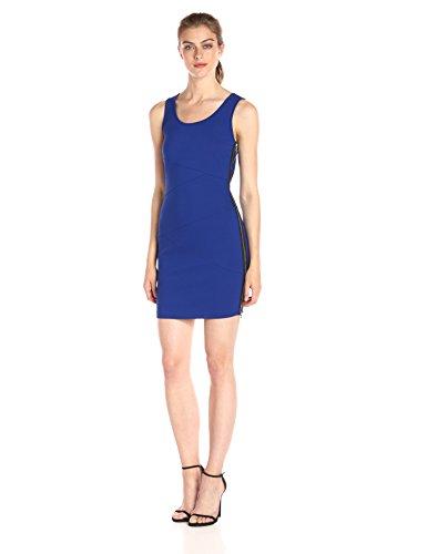 A|X Armani Exchange Women's Scoop Neck Sleeveless Above The Knee Bodycon Dress, Cobalt, Small