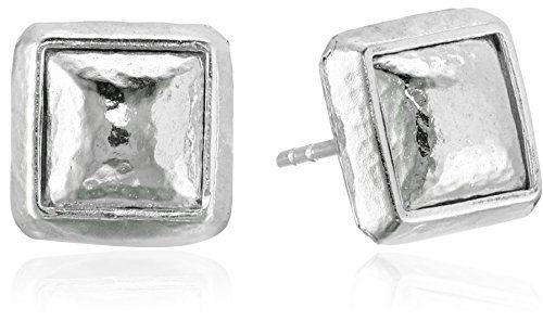 "GURHAN""Amulet"" Sterling Silver Square Stud Earrings"