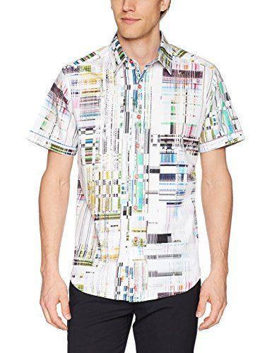 Robert Graham Men's Paracels Short Sleeve Classic Fit Shirt, Multi, Small