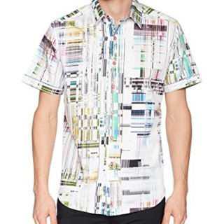 Robert Graham Men's Paracels Short Sleeve Classic Fit Shirt, Multi, Small